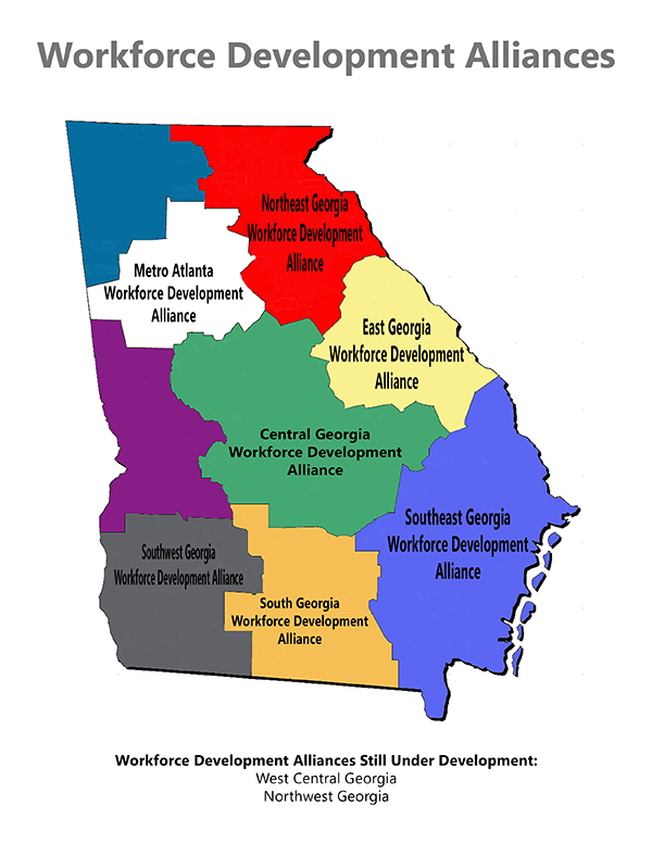 Map Of Southwest Georgia.Workforce Development Alliances